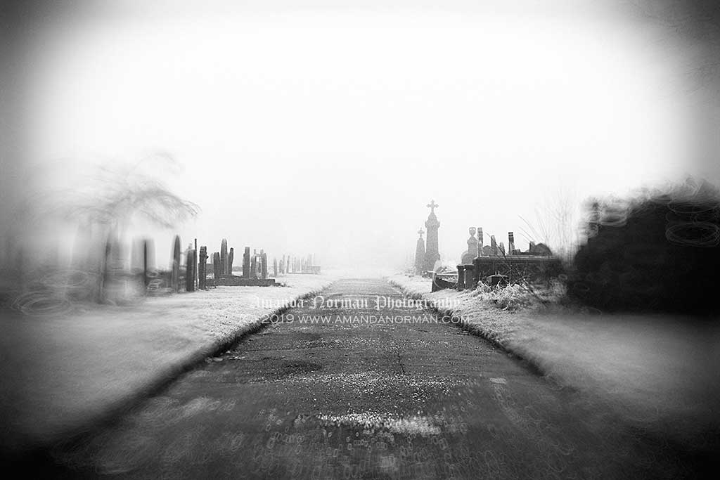 Victorian Cemetery in the Fog