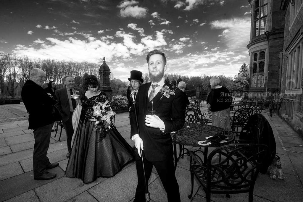 A quirky wedding photograph by Amanda Norman Photography