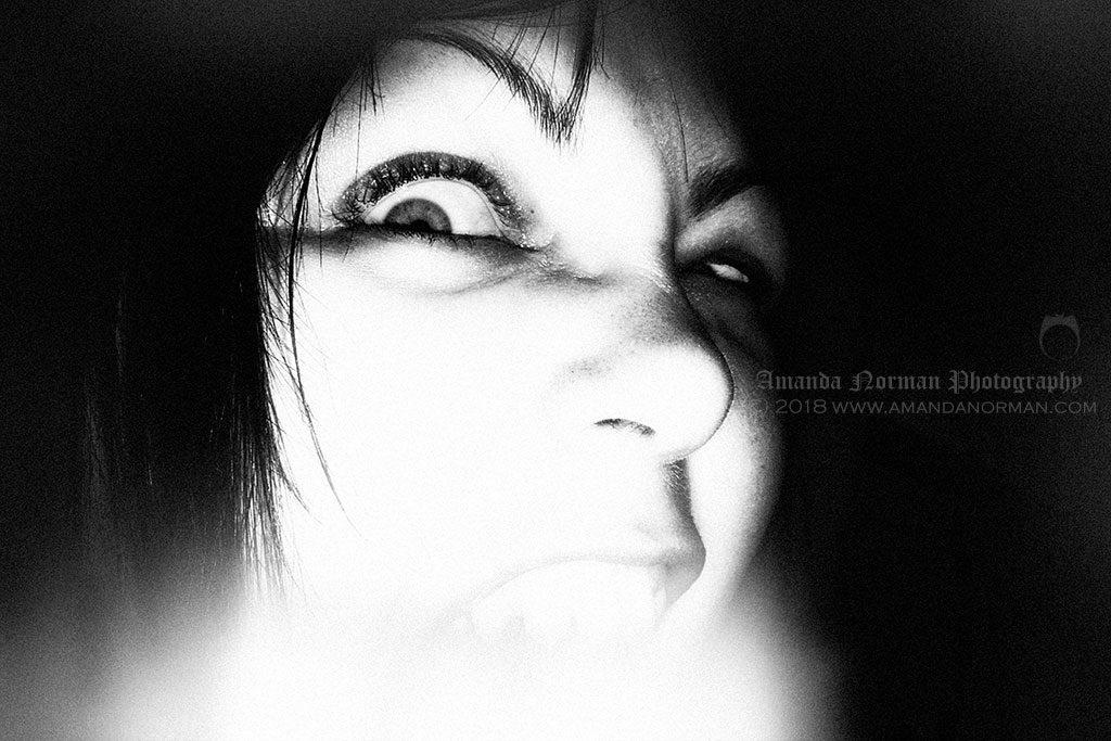 Self portrait of Gothic horror photographer, Amanda Norman