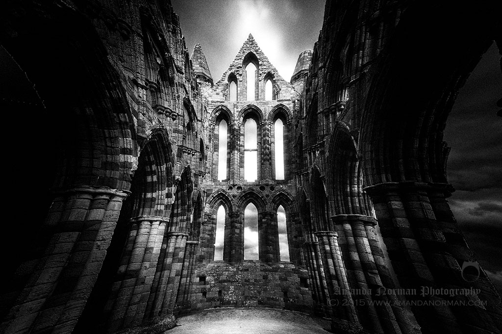 Inside view of Whitby Abbey photographed by Amanda Norman