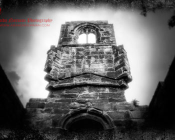 The bell tower of Lydiate Abbey