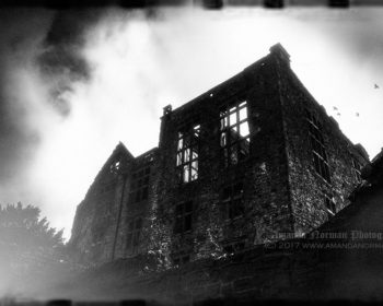 Ghost ruins of Hardwick Old Hall