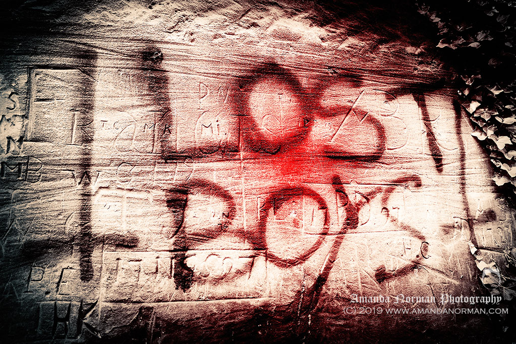 Lost Boys graffiti in St James Cemetery