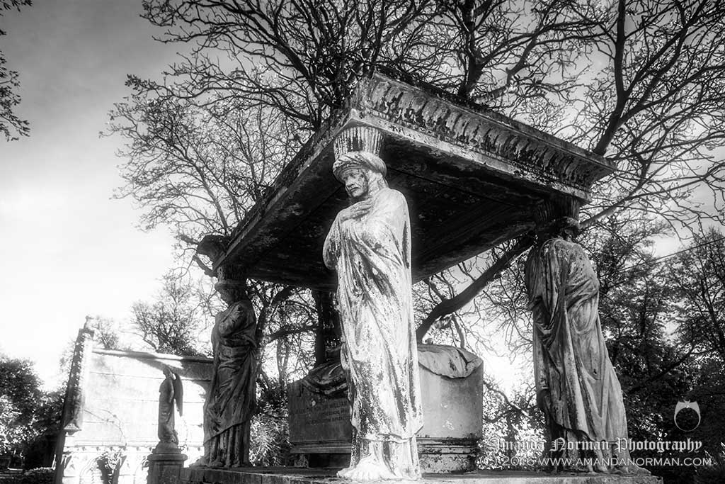 Cemetery guards in Kensall Green Cemetery