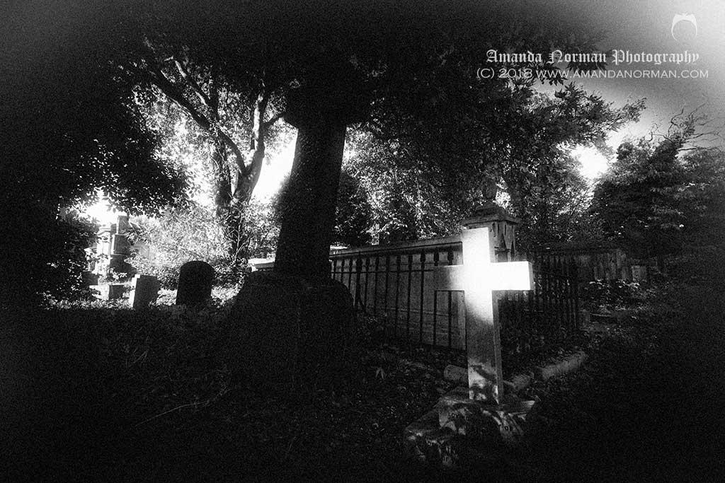 Shadows in Kensall Green Cemetery