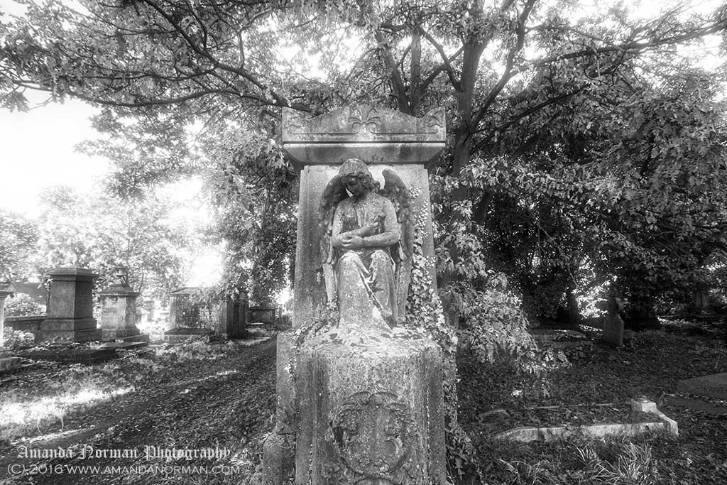 An Angel in Kensall Green Cemetery